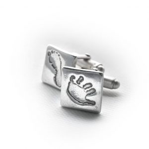 True Love Keepsakes Handprint/Footprint Cufflinks