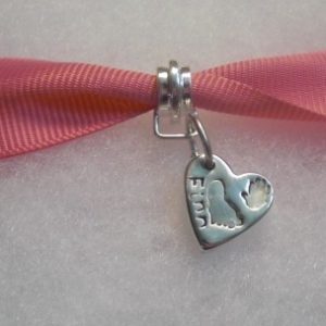 Hand and Footprint Heart Charm
