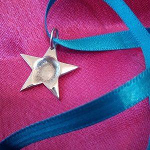 True Love Keepsakes Fingerprint Star Charm