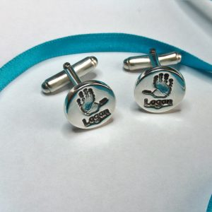 True Love Keepsake Handprint Cufflinks