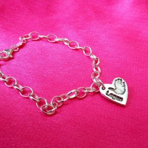 True Love Keepsakes Belcher Handprint Bracelet
