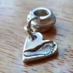 Footprint Charm with Charm Carrier