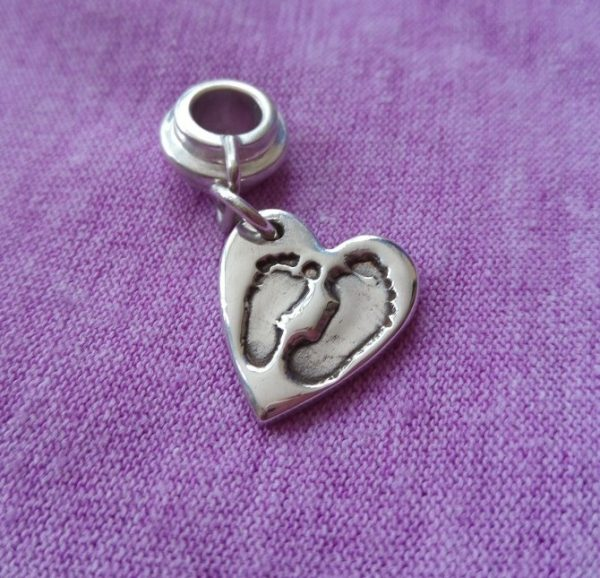 Double Footprint Sibling Charm
