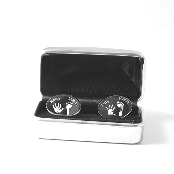 Engraved Hand/Footprint Cufflinks