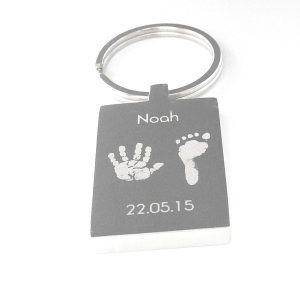 Engraved Rectangle Keyring