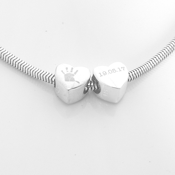 Engraved Heart Charm Bead
