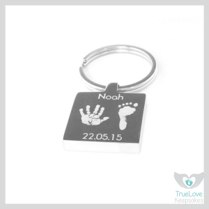 Handprint and footprint keyring Father's Day Gift