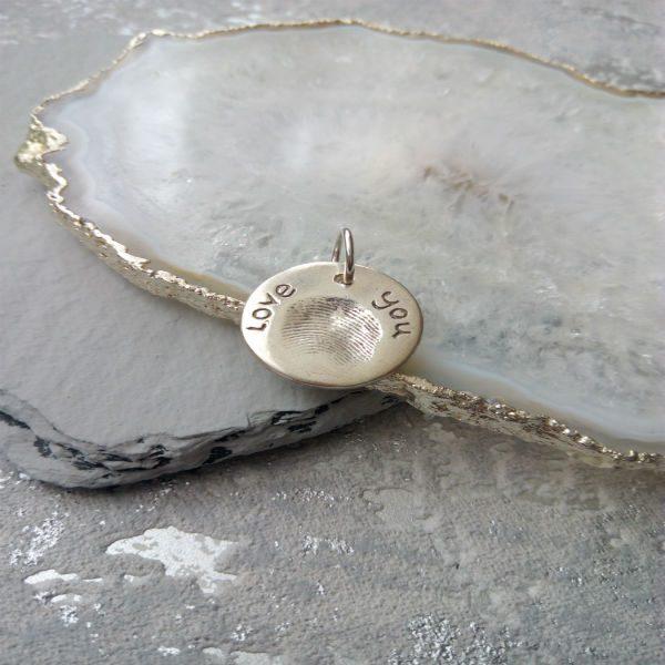 Circle Fingerprint Charm