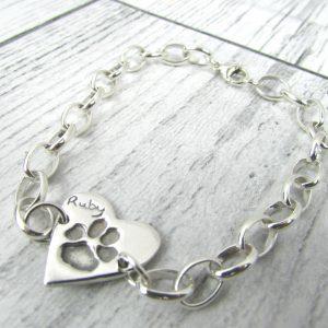 Paw Print Belcher Bracelet