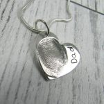 fingeprint heart necklace