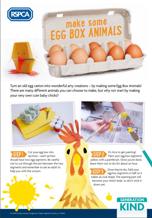 RSPCA Egg Box Animals