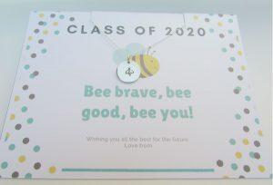 class of 2020 bee pendant