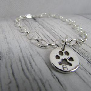 paw print charm belcher bracelet