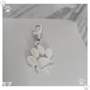 sterling silver paw print charm