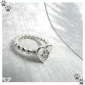 Custom Paw Print Ring Handmade in the UK