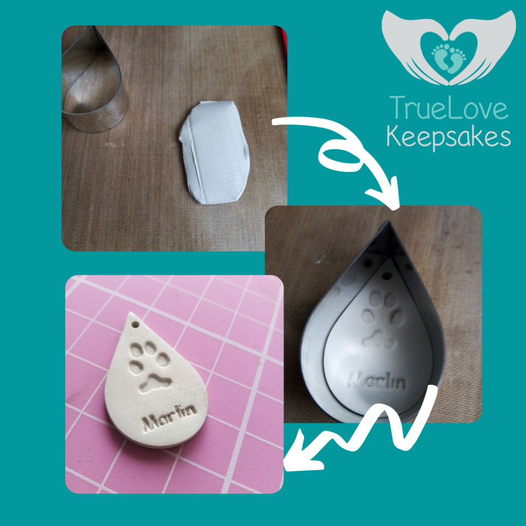 sanding to finished polished silver paw print charm