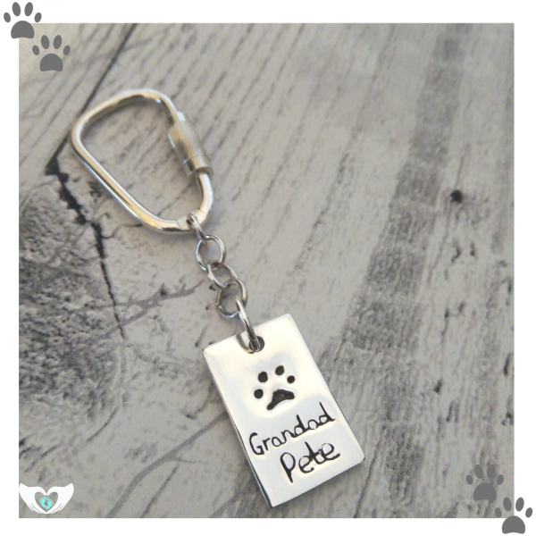 rectangle paw print personalised