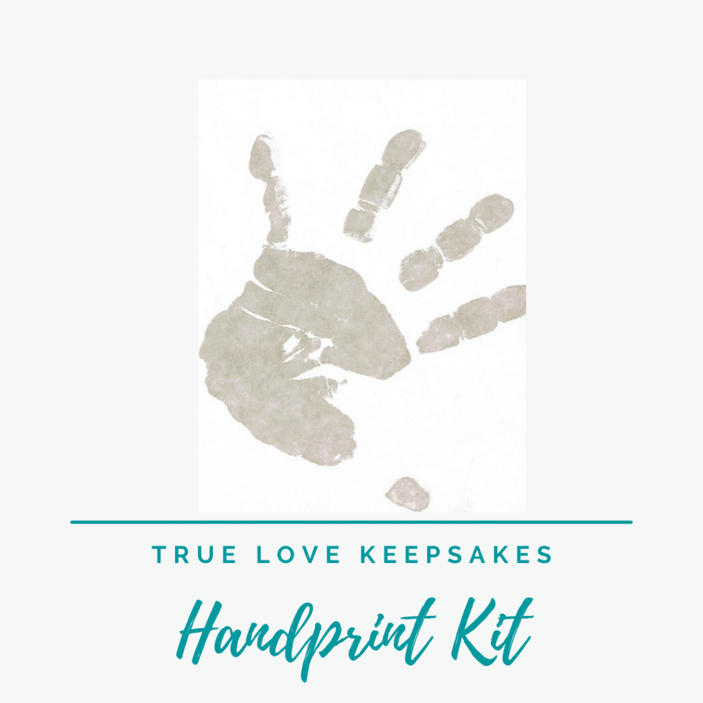 inkless handprint kit to use to capture the actual handprint of a loved one.
